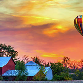 Butler county Farm and Balloon by Randall Branham