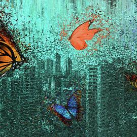 Butterflies over the City by Alex Mir