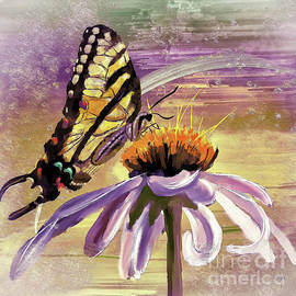 Butterfly Love In The Pink by Lois Bryan