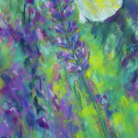 Butterfly on lavender by Karen Kaspar