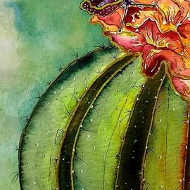 Butterfly's Cactus Flower by Barbara Chichester