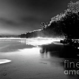 BW Between the Hills and Frozen Lakes by Renata Natale