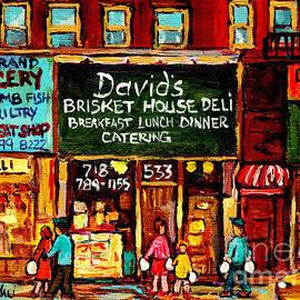 C Spandau Fine Artist Paints Best New York City Restaurants David's Brisket House Deli Crown Heights by Carole Spandau