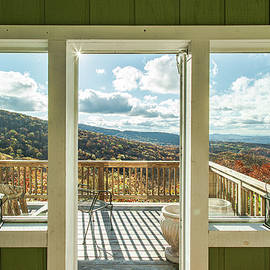 Cabin View - Beech Mountain North Carolina by Garth Steger