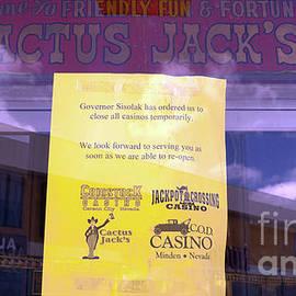Cactus Jack casino closed in Nevada because of Coronavirus disease 2019 COVID 19 by PROMedias