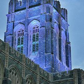 Cadet Cathedral  West Point at Night by Linda Covino