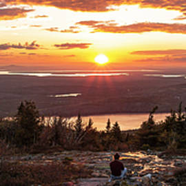 Cadillac Sunset Pano by Garth Steger