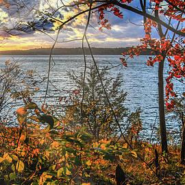 Caesars Creek Pano sunset by Randall Branham
