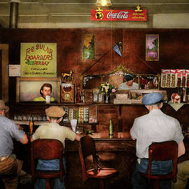 Cafe - Mongollon NM - The town cafe 1940 by Mike Savad