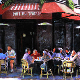 Cafe Du Temple by David Zimmerman