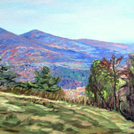 Cahas Mountain View - Blue Ridge Parkway Overlook by Bonnie Mason