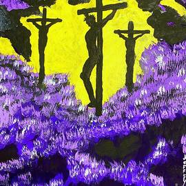 Jesus On Calvary Hill The Purple Side   by Jeffrey Koss