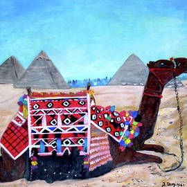 Camel at the Pyramids of Giza by Teresa Dominici