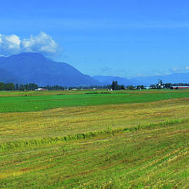 Canadian Farmlands Pano  by Gary F Richards