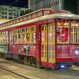 Canal Line Streetcar - New Orleans by Stephen Stookey