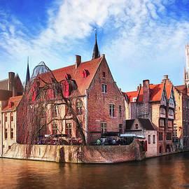 Canal Scenes of Bruges Belgium  by Carol Japp