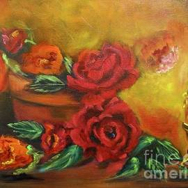 Candlelit Roses by Jenny Lee