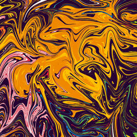 Candy River - Best abstract painting, colorful painting, and fine art masterpiece by Triple F co