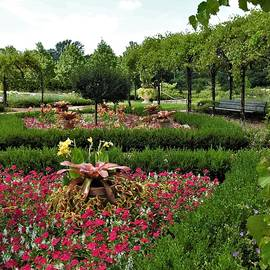 Cantigny Formal Gardens Warrenville Illinois by Barbara Ebeling