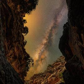 Canyon mountain stars by Giorgos Karampotakis