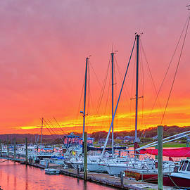 Cape Cod Bay Sunset on Fire by Juergen Roth