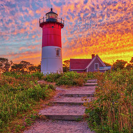 Cape Cod Sunset at Nauset Beach Light  by Juergen Roth