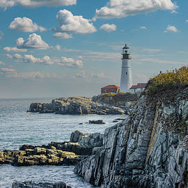 Cape Elizabeth Maine at Portland Head Lighthouse by Bill Cannon