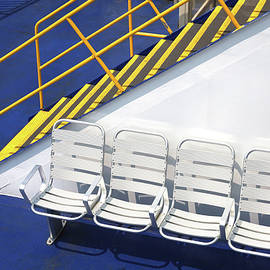 Cape May - Lewes Ferry Abstract 2 by Allen Beatty