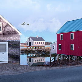Cape Porpoise Fish House, Maine by Betty Denise
