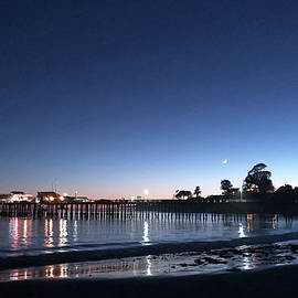 Capitola Wharf at Night by Sierra Vance