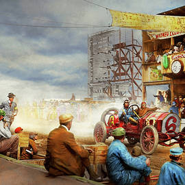 Car - Race - Eat my dust 1910 by Mike Savad