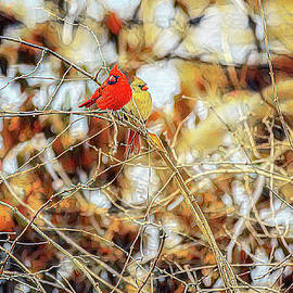 Cardinal Couple by Diane Lindon Coy