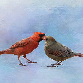 Cardinal Kisses by Patti Deters