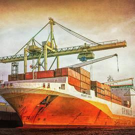 Cargo Ship Hamburg Germany by Tatiana Travelways