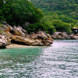 Caribbean Cove and Huts by Arlane Crump