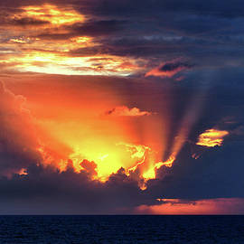Caribbean Sunset Near Cozumel Mexico by Bill Swartwout Photography