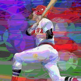 Carlton Fisk Home Run Hit Game 6  World Series by David Lloyd Glover