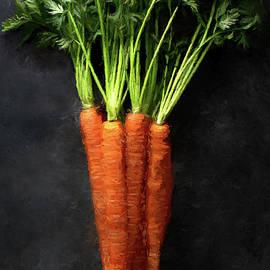 Carrot Bunch Oil Painting by Deborah League