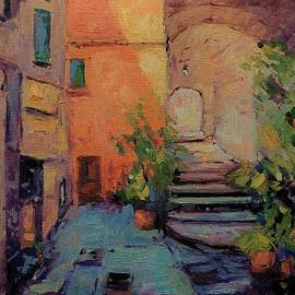 Carrugi in Vernazza II by R W Goetting