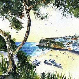 Carvoeiro Beach in Algarve Portugal by Dora Hathazi Mendes