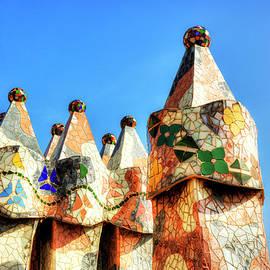Casa Batllo Chimneys Barcelona by Paul Thompson