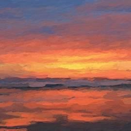 Cascade Sunset by Anthony Fishburne