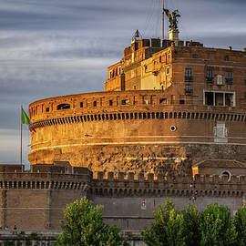 Castel Sant Angelo At Sunset In Rome by Artur Bogacki