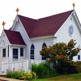 Our Lady of Holy Hope Catholic Church in Castine Maine  by Carla Parris