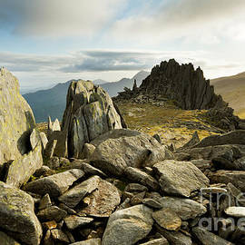 Castle of the Winds, Glyder Fach, Snowdonia, Wales by Justin Foulkes