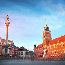 Castle Square Warsaw Poland  by Carol Japp