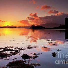 Castle Stalker sunset, Loch Linnhe, Argyll, Scotland by Neale And Judith Clark