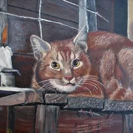 Cat Candle In Memory by Lynn Raizel Lane