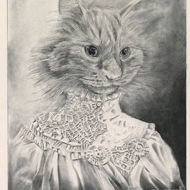 Victorian Cat  - #17 of the Animorphia collection by Keith Harrop