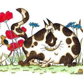 Cat in the Cornfield by Linda De Klein